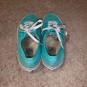 Womens turquoise vans